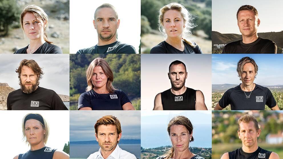 Samtliga 18 deltagare i Mästarnas mästare 2018.
