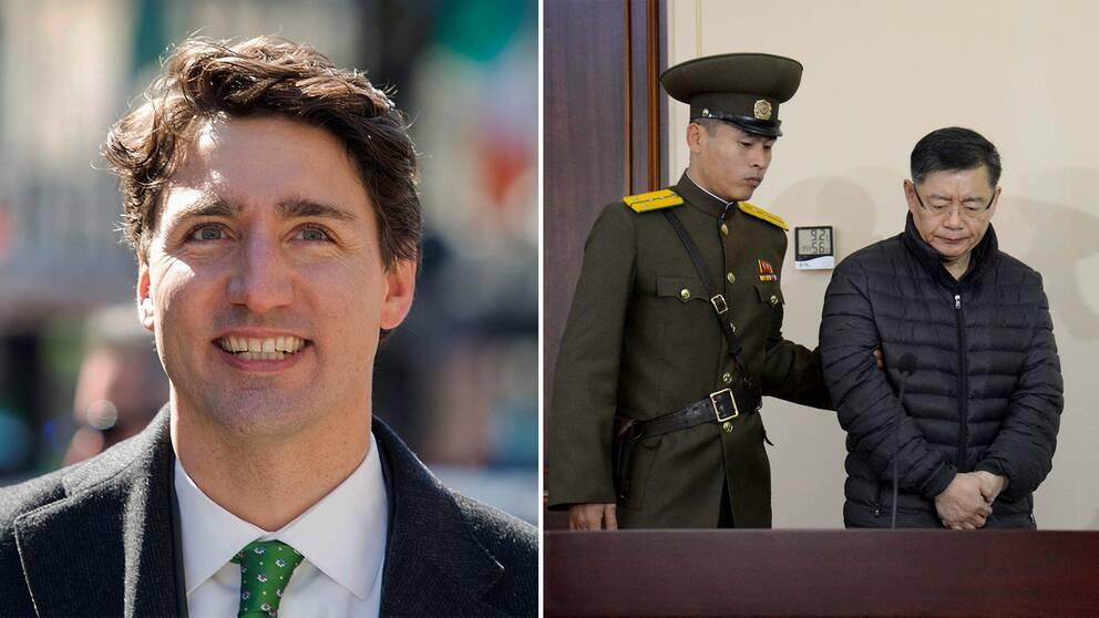 Kanadas premiärminister Justin Trudeau tackar Sverige för hjälpen med den nu frisläppta pastorn.