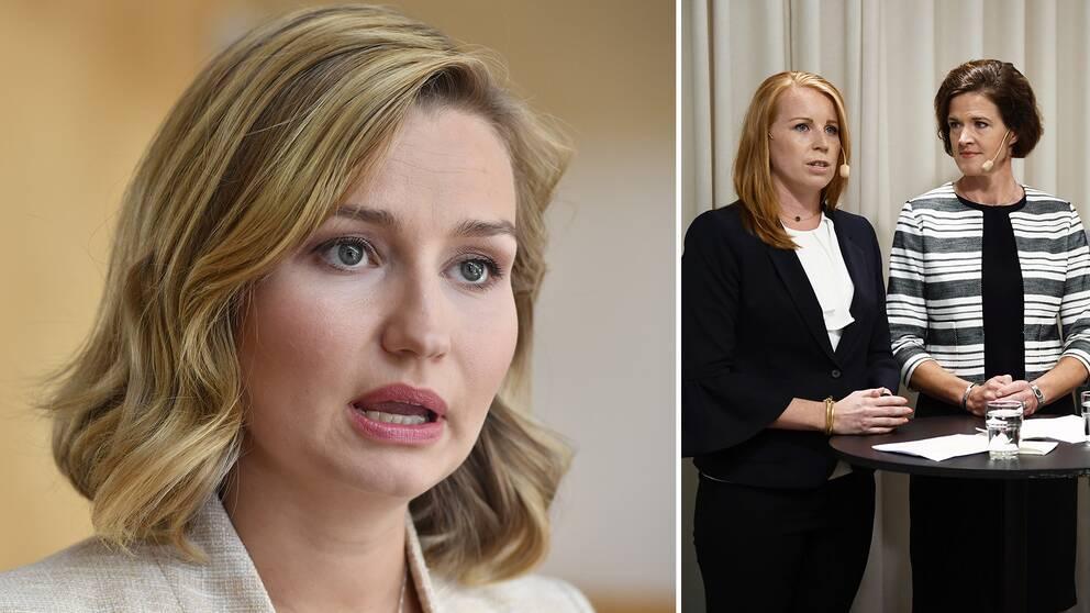 KD-ledaren Ebba Busch Thor avbryter försvarssamarbetet med regeringen, M och C.