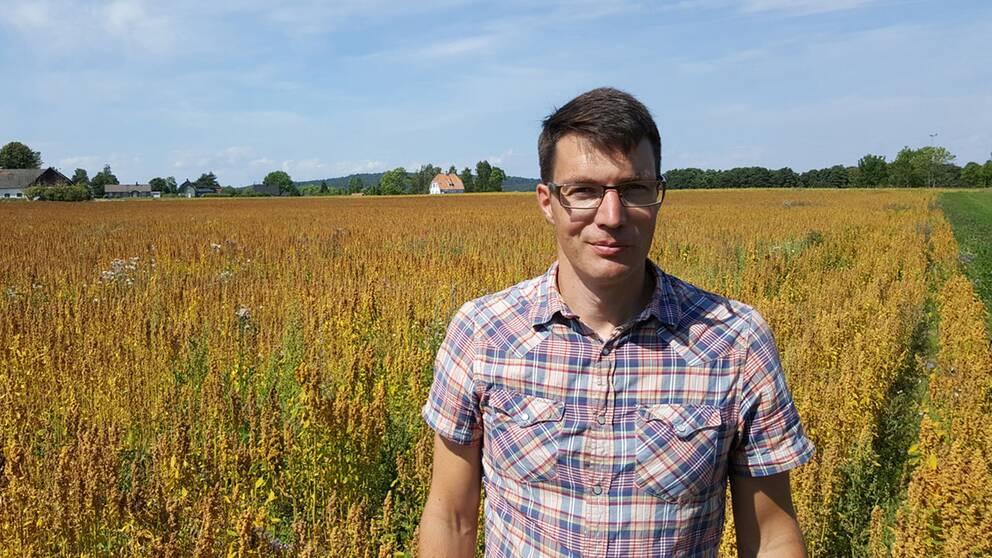 Lantbrukaren Per Modig tycker om att testa vad som går att odla.