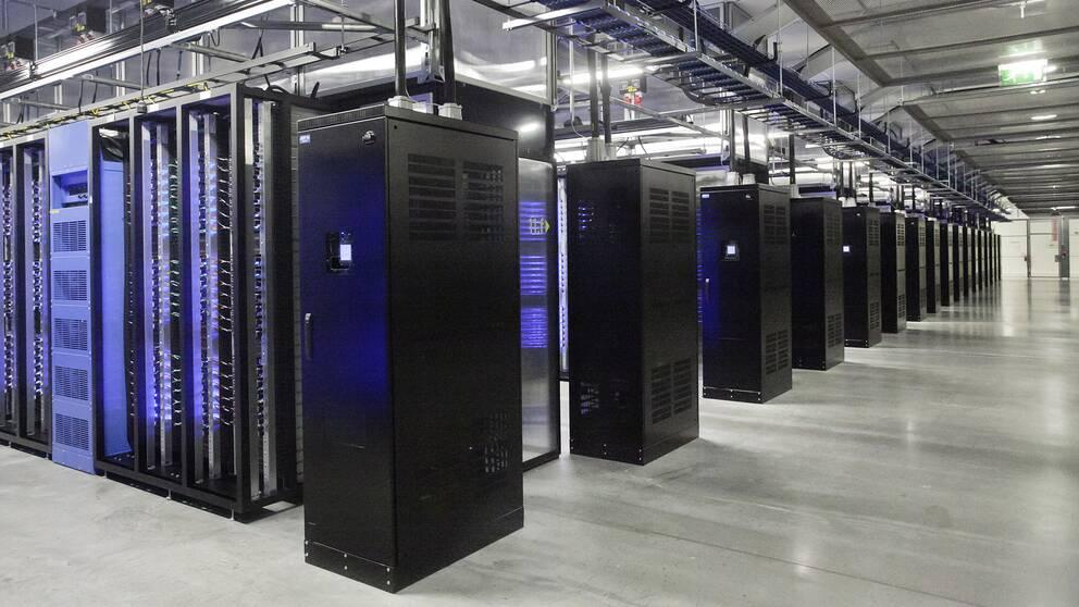 Facebooks serverhall i Luleå. Arkivbild.