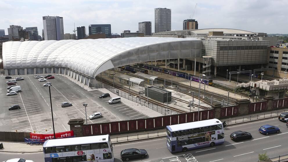 Terrordådet utfördes den 22 maj vid Manchester Arena, till höger i bild.