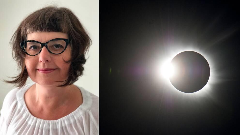 SVT:s vetenskapsreporter Ulrika Engström är på plats i USA för att skåda solförmörkelsen