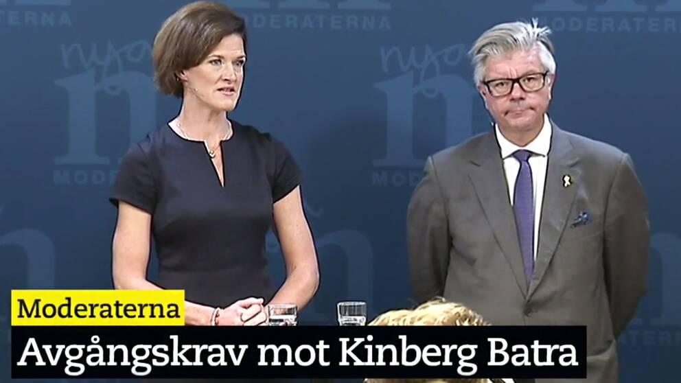 SVT Nyheter sänder live från Moderaternas presskonferens.