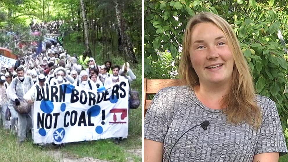 Sigrid Magnusdotter från Säffle är en av tusentals miljöaktivister som deltar i aktionen