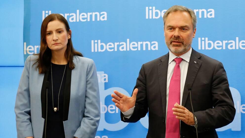 Birgitta Ohlsson och Jan Björklund – kandidaterna i Liberalernas partiledarstrid