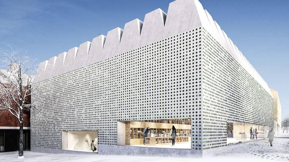 Skiss över tillbyggnaden vid Liljevalchs konsthall