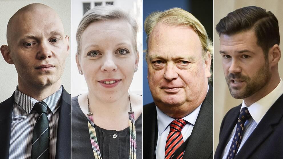 Niklas Wykman, Maria Rankka, Mikael Odenberg och Johan Forsell.