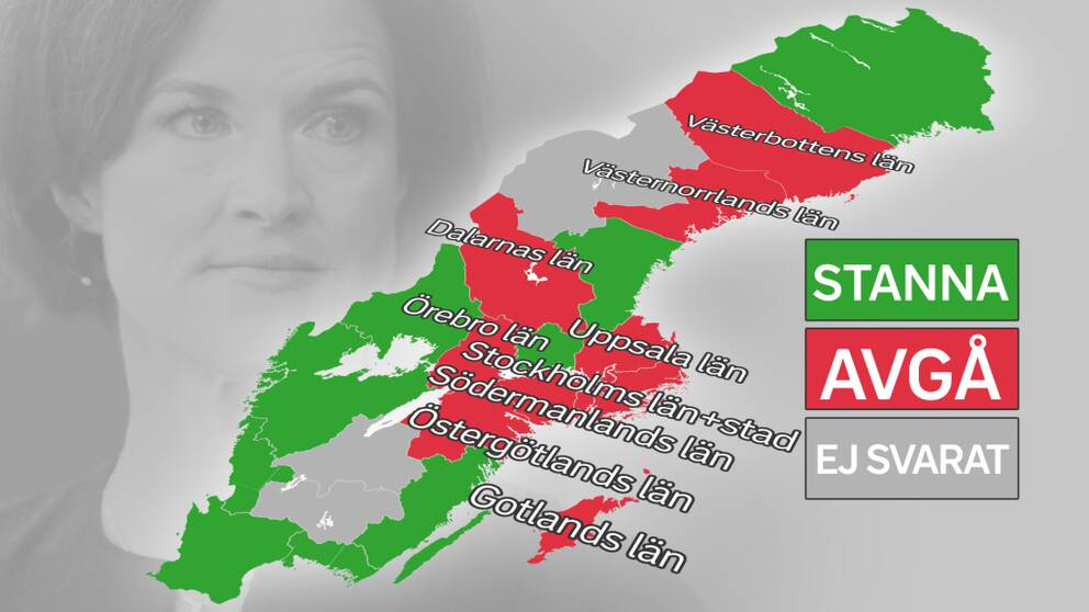 De röda länen vill avsätta Anna Kinberg Batra som M-ledare, de gröna ger henne sitt stöd.
