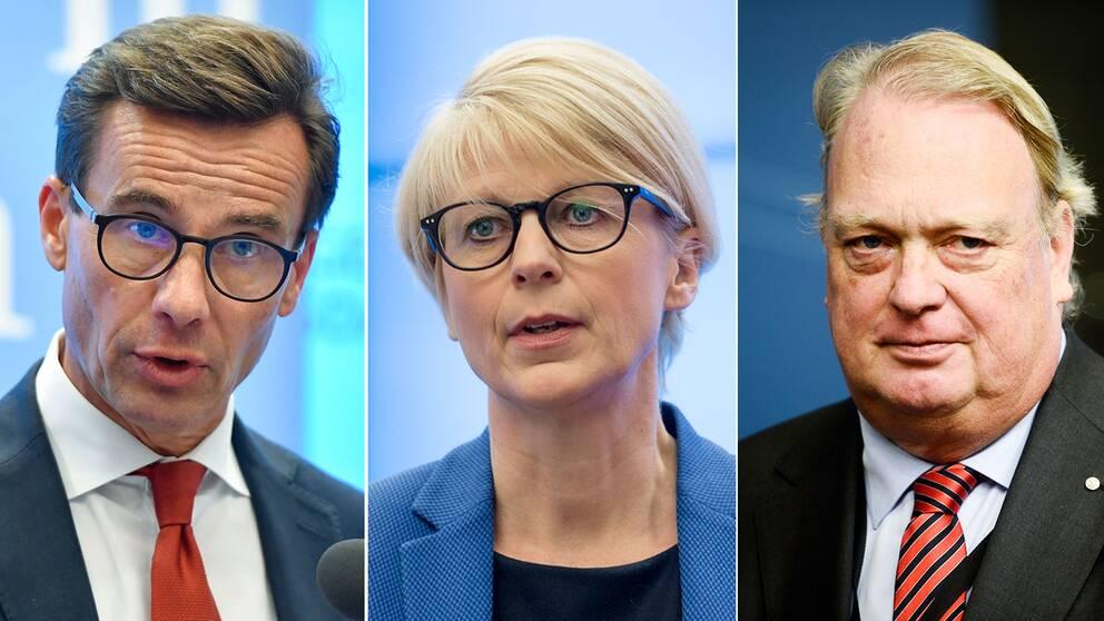 Moderaterna: Ulf Kristersson, Elisabeth Svantesson och Mikael Odenberg.