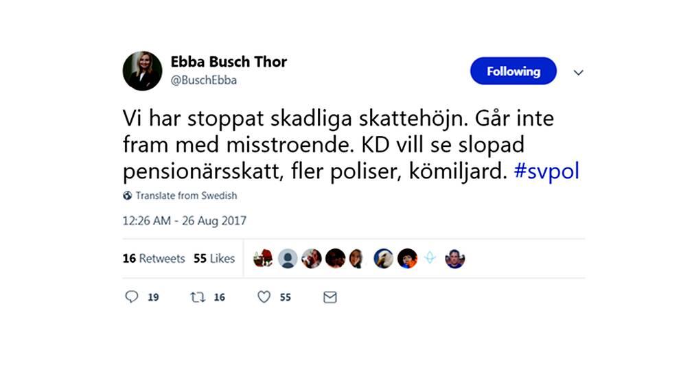 KD-ledaren skriver på Twitter att hotet om misstroendeförklaring dras tillbaka.