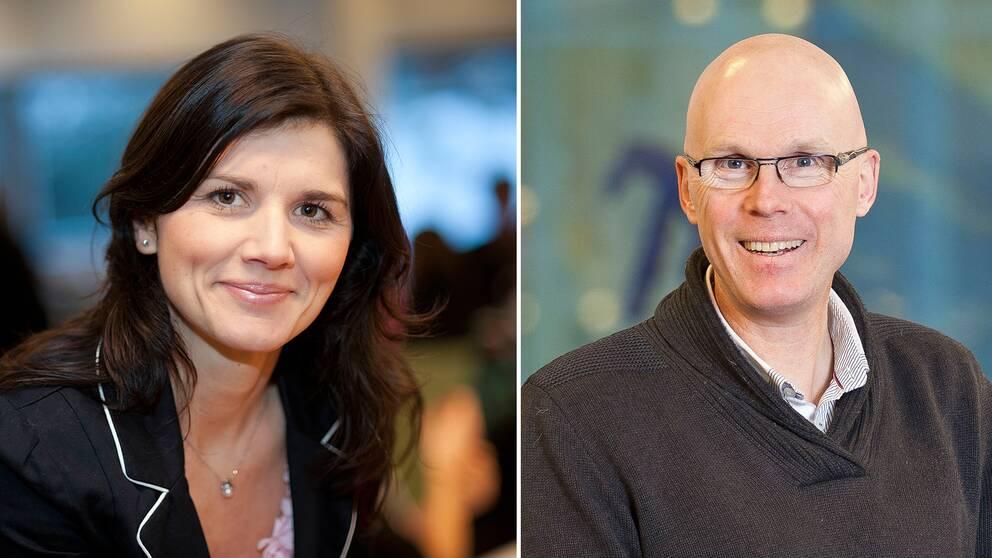 Statsvetarna Jenny Madestam och Jonas Hinnfors.