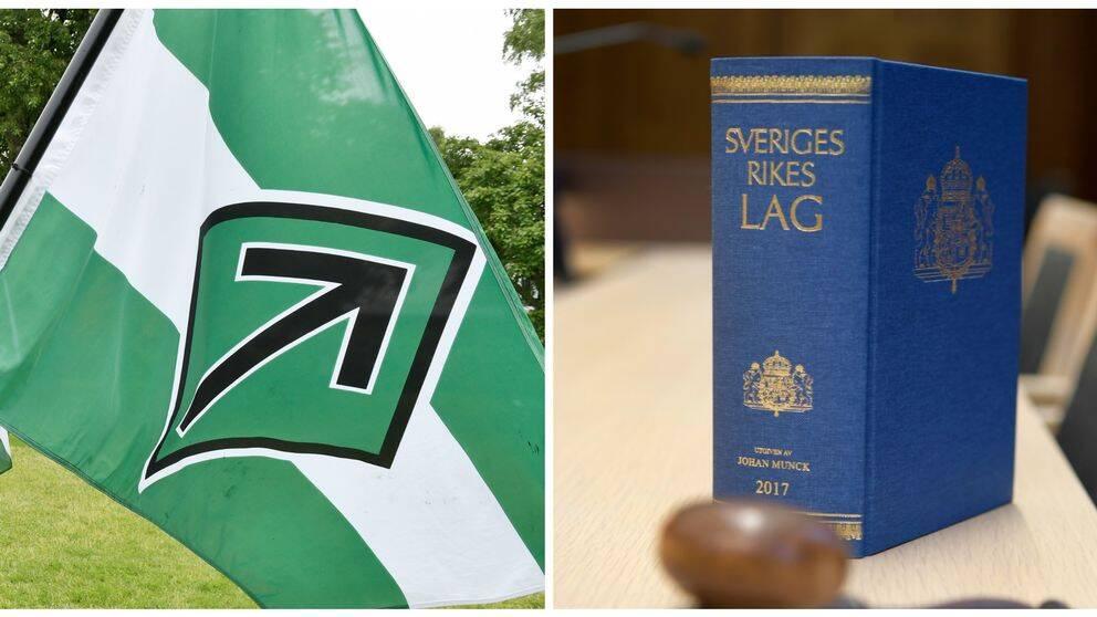 Nordiska motståndsrörelsens flagga och lagbok