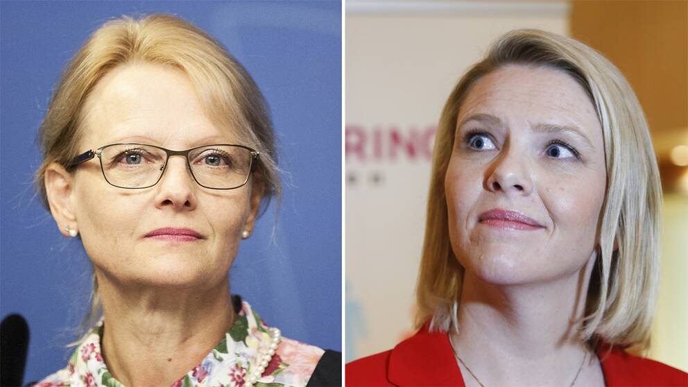 Helene Fritzon och Sylvi Lishaug.