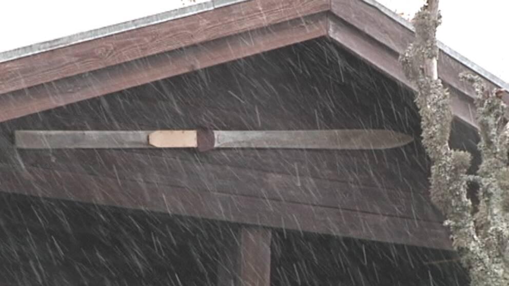 Första snön föll i Sälenfjällen på morgonen den 24 september.