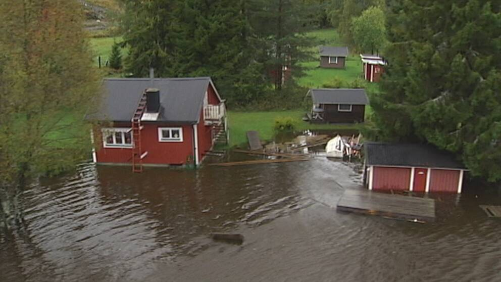 Översvämningarna var omfattande i trakterna kring Kramfors den 20 september