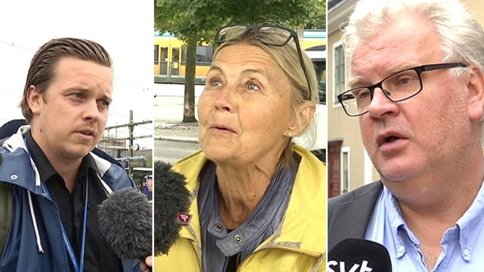 Andreas Westöö, Elisabeth Cederholm och Paul Lindvall (M)