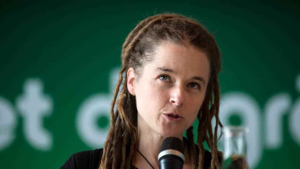 Miljöpartiets partisekreterare Amanda Lind.