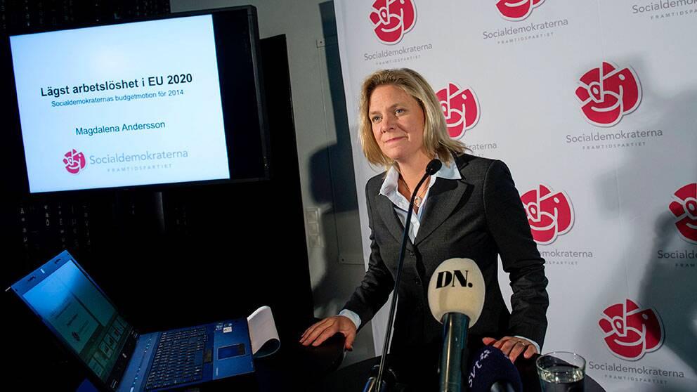 Magdalena Andersson(S), ekonomisk- politisk talesperson.