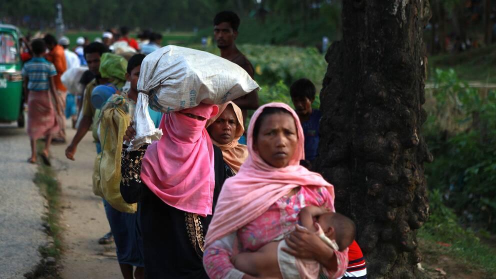 Rohingyas på flykt.
