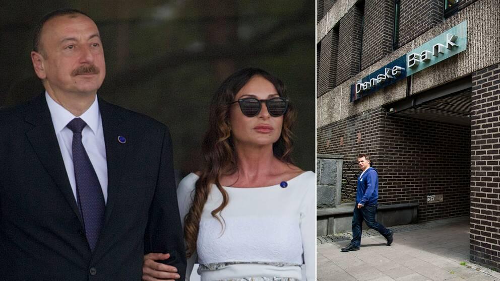 Det azerbajdzjanska presidentparet Ilham Alijev och Mehriban Alijeva samt Danske bank
