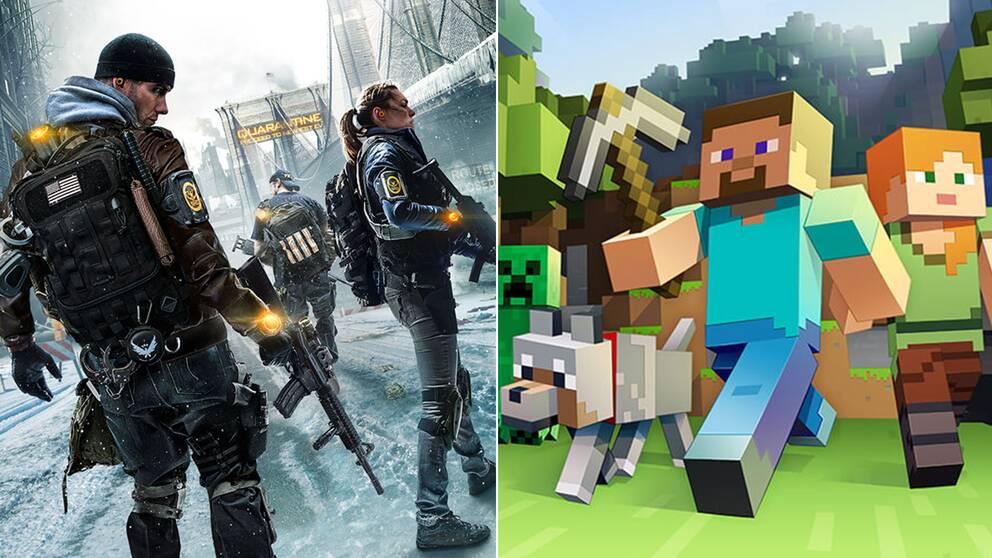 The Division och Minecraft är två av de största svenska spelen på senare år.