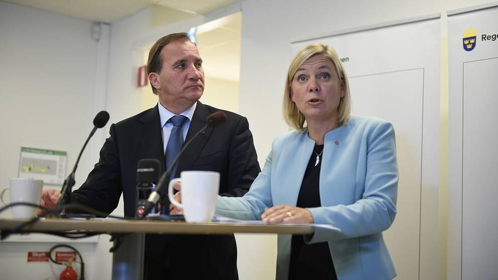 Stefan Löfven och Magdalena Andersson