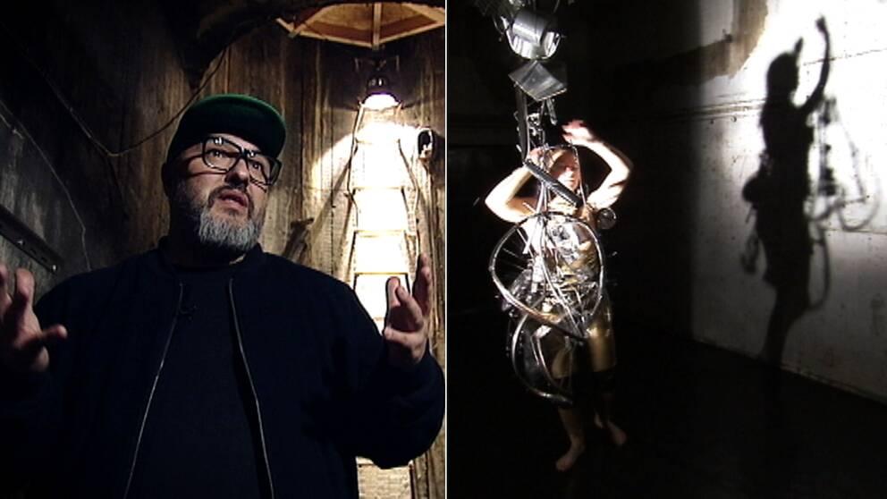 """Adam Potrykus, en av grundarna till Stockholm Fringe och en del av Recover Laboratorys verk """"Joy of Spleen""""."""