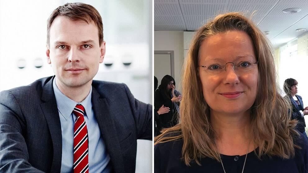 Peter Danielsson (M), kommunalstyrelsens ordförande, och Maria Winberg Nordström (L), ledamot.