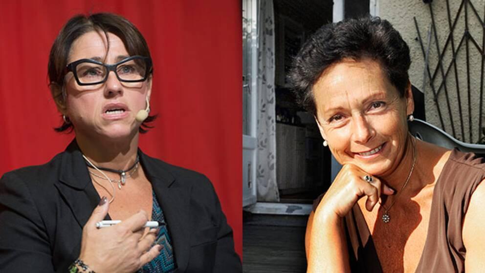 Hanne Kjöller och hennes förläggare Dorotea Bromberg.