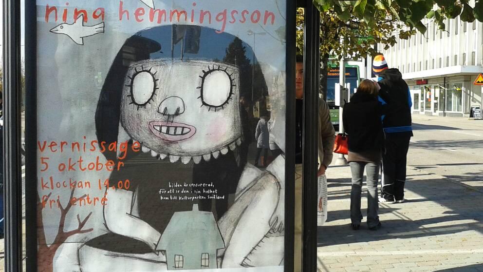 För ett år sedan debatterades Nina Hemmingssons verk som blev censurerat vid annonseringen.
