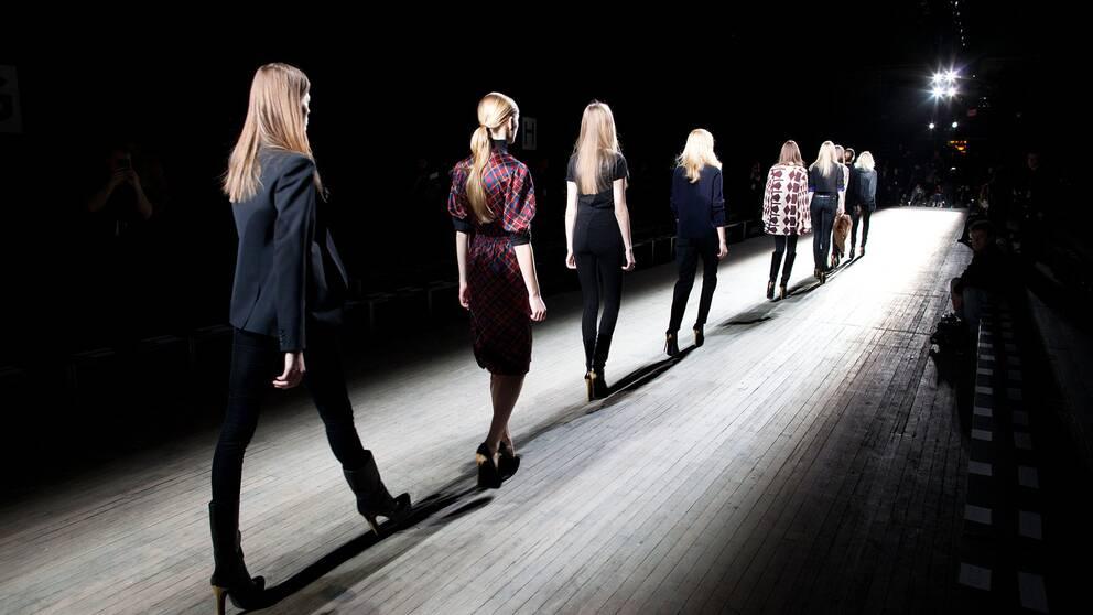 En modevisning under modeveckan i New York 2012.