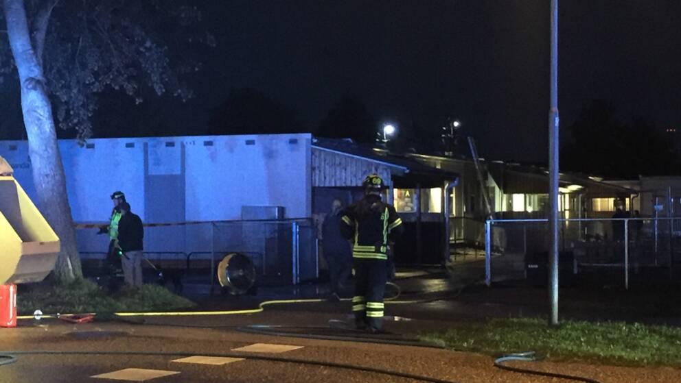 Malmtransport stoppad efter brand