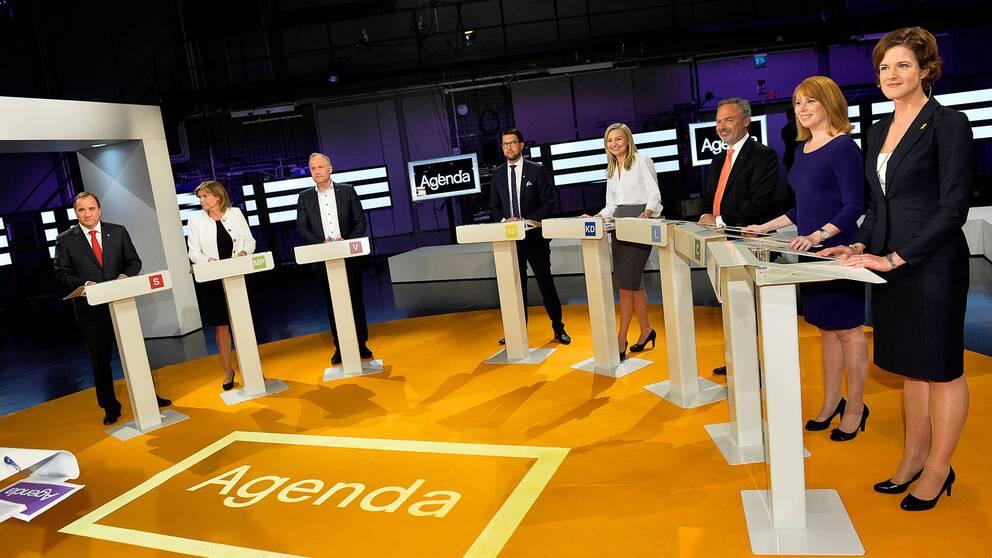 Partiledarna i SVT:s Agenda