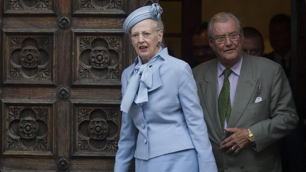 Prins Henrik tillsammans med drottning Margrethe