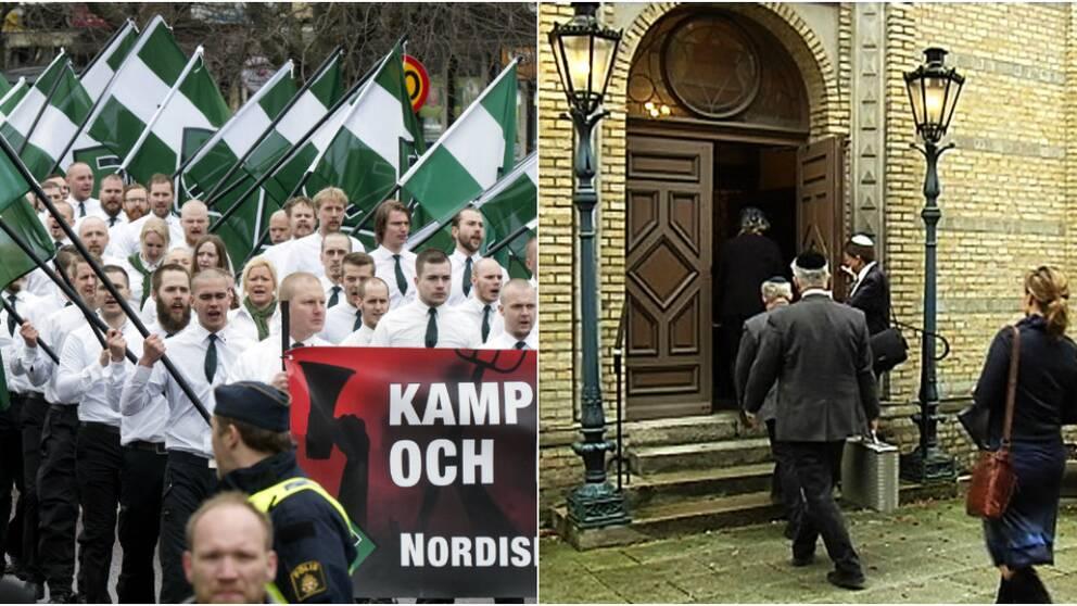 Upprördheten är stor inom Göteborgs judiska församling eftersom Nordiska motståndsrörelsen ska passera i närheten av synagogan under judarnas heligaste dag.