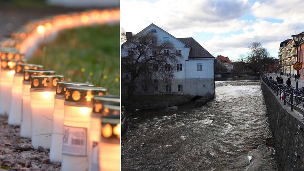 1.500 ljuslyktor kommer att färdas nedför Fyrisåns forsar på söndagskvällen.