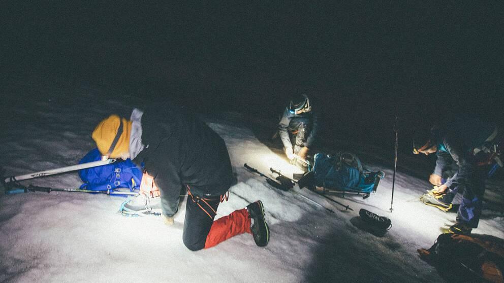 På vägen upp på Elbrus.
