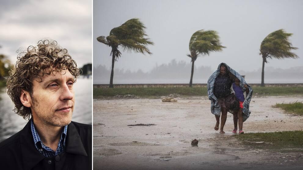 Harvey och Irma är exempel på väderfenomen som följer FN:s framtidsscenario på konsekvenserna av stigande temperatur, menar SVT:s meteorolog Pererik Åberg.