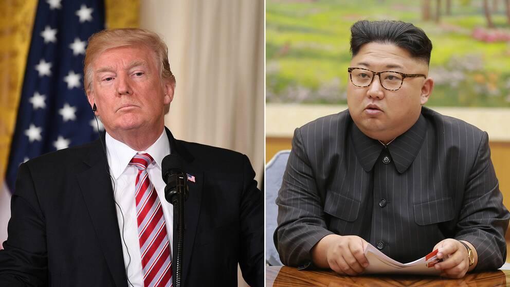 USA:s president Donald Trump och Nordkoreas ledare Kim Jong-un.