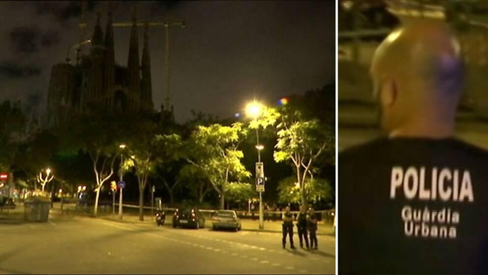 Anti-terrorpolis utrymde katedralen Sagrada Familia efter ett terrorlarm