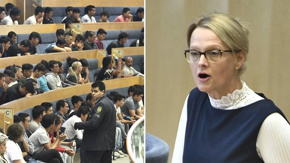 Helen Fritzon i Riksdagshuset.