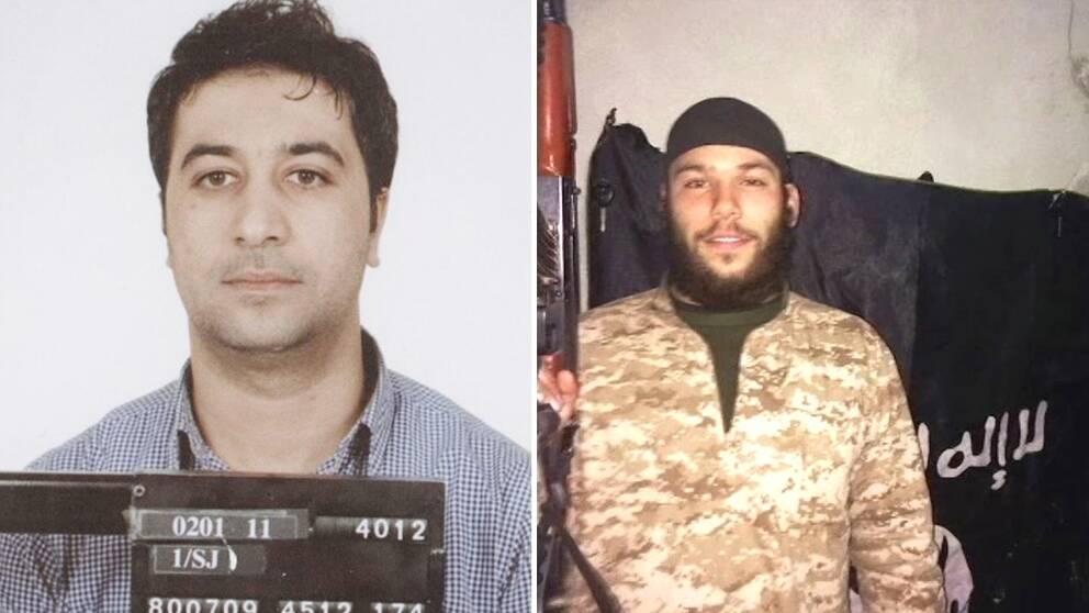 De svenska terroristerna Mohamed Aziz Belkaid och Osama Krayem i ett bildmontage.