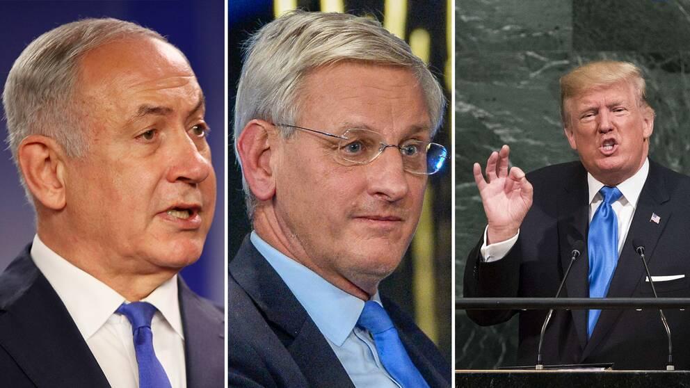 """""""Under 30 års tid i FN har jag aldrig hört ett modigare tal"""", twittrar Benjamin Netanyahu."""