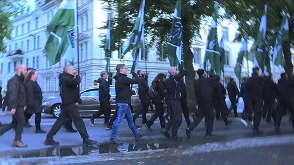 NMR demonstrerade i Göteborg utan tillstånd