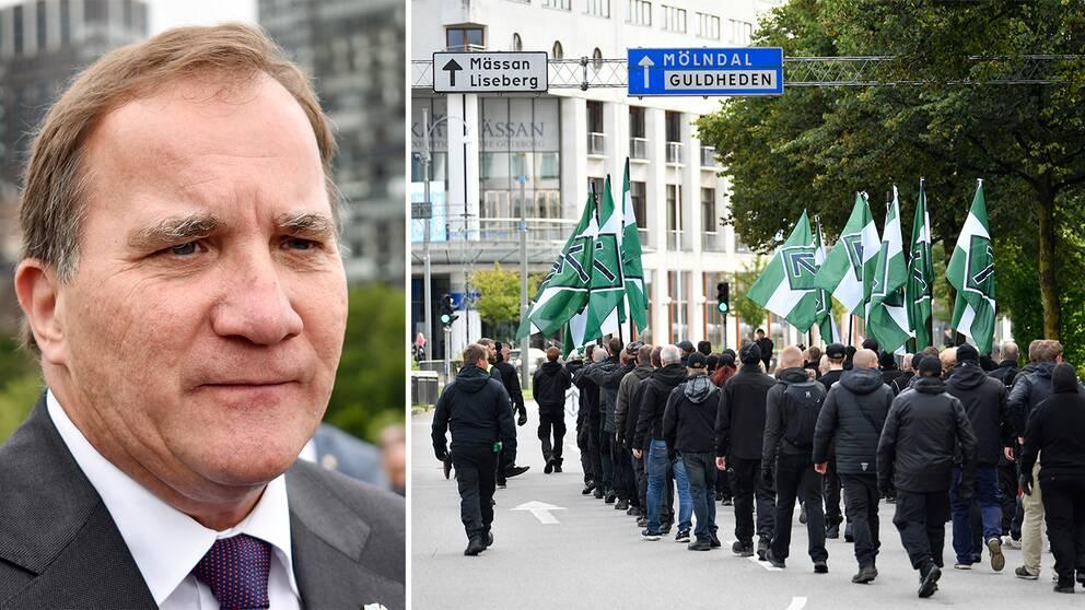 Stefan Löfven. Nordiska motståndsrörelsen.