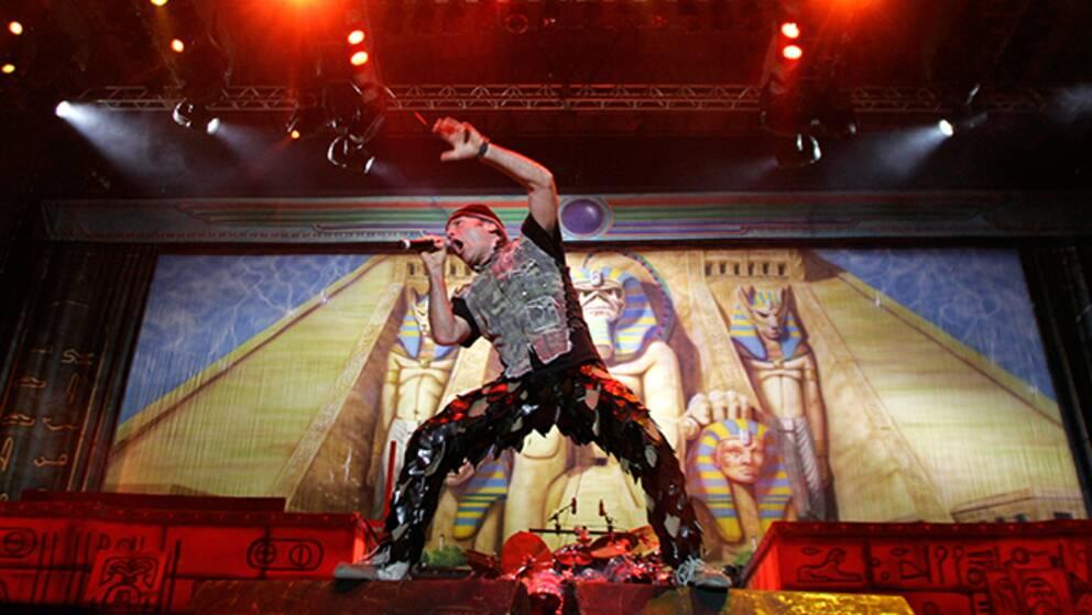 Iron Maidens sångare Bruce Dickinson.