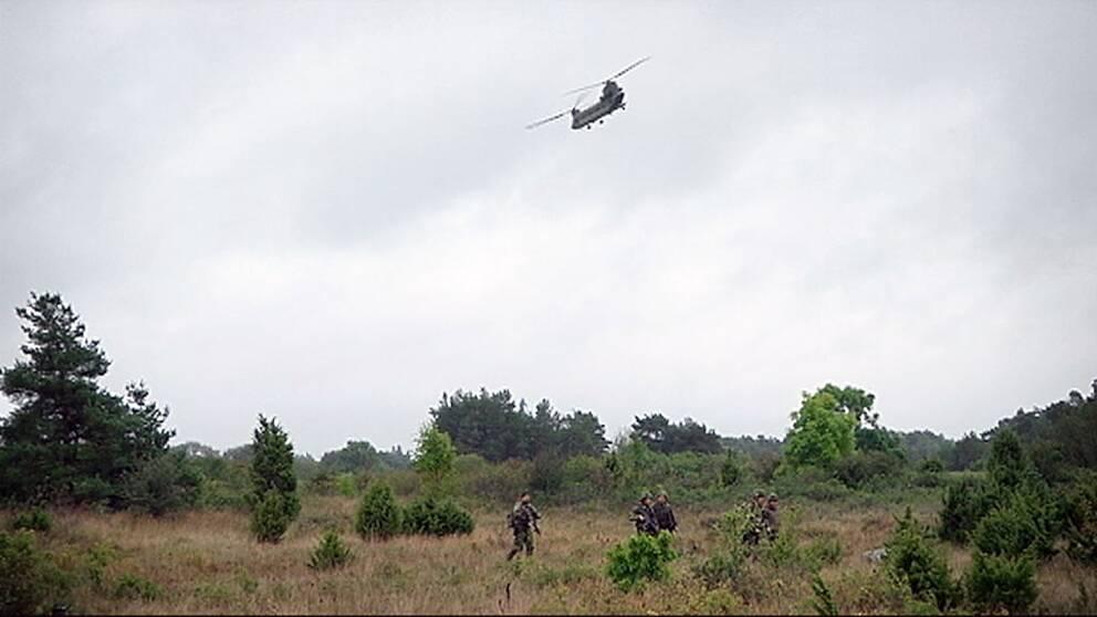 öb micael bydén gotland aurora 17 överbefälhavare försvarsmakten Chinook-helikopter