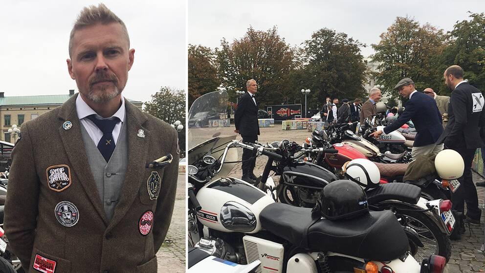 Niklas Borg är arrangör av Göteborgs lokala motorcykelkaravan inom välgörenhetsorganisationen Distiguished gentlemen's ride.