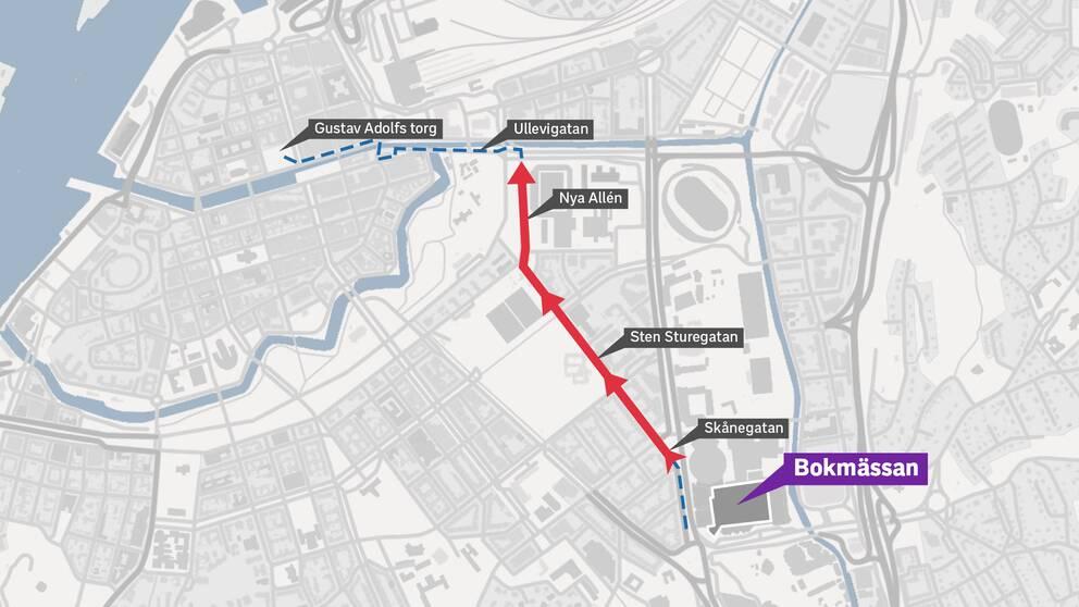 Här är nazisternas nya färdväg under demonstrationen den 30 september.